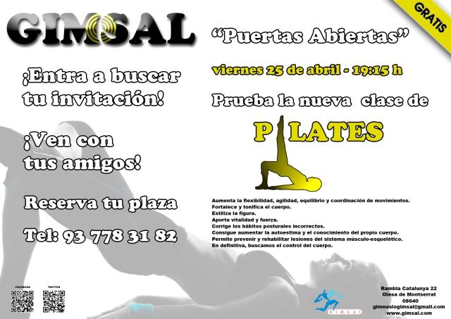 Cartel Pilates 11-04-2014