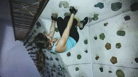 Elena Climbing