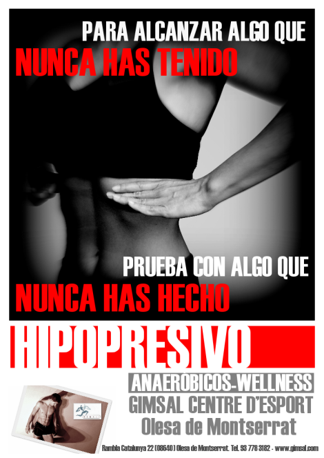 METODO HIPOPRESIVO cartel GERARDO