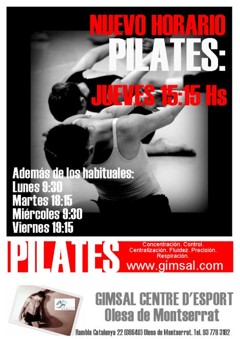PILATES Publicidad Jueves 15 15