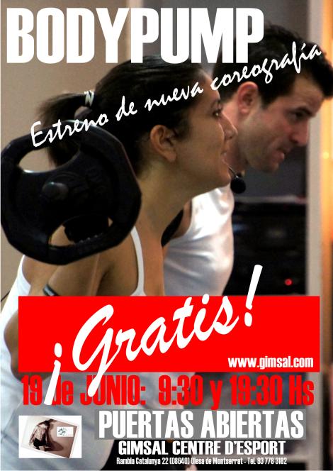 BODYPUMP cartel puertas abiertas 19 Junio 2014