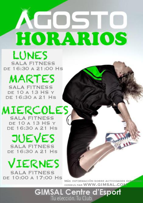 HORARIOS DE AGOSTO 2014