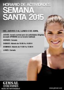 HORARIOS Semana santa 2015