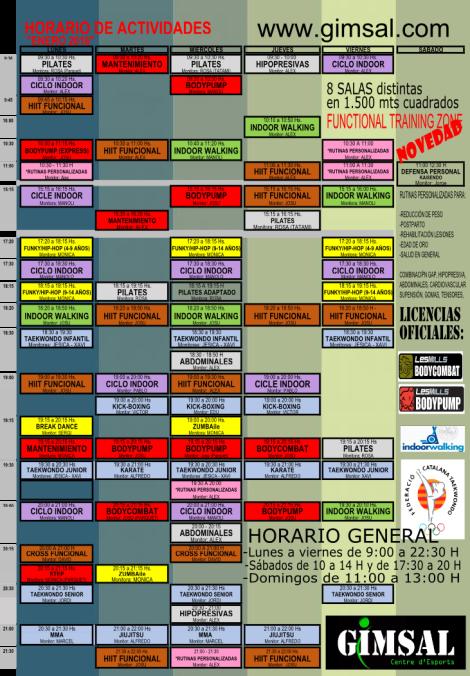 HORARIO ENERO 2016